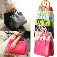 Wholesale Fashion Women Classy Handbag Lady Candy Color Soft Totes Shoulder Bag NI5L