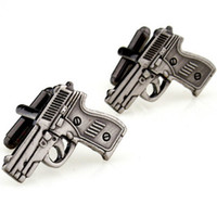 Wholesale Gun shape cufflinks Fun cuff links