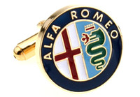 Wholesale ALFA ROMEO Car Sign Shape Cufflinks Hot Cufflinks