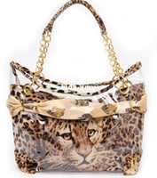 Wholesale hotsale Sexy Leopard Bag Independant lining pvc Classic shoulder bag brand name handbag fashion tote