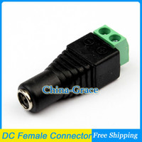 Wholesale Female Mark Polarity DC Power Jack Connector Adapter Plug For Single Color LED Strip Light
