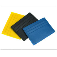 Card Holders Credit Card Plain OEM wholesale promotion item leather card holder 2014 new design fashion leather card case