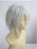 Wholesale cheap APH Prussia Reborn Gokudera Silver White Cosplay Wig Free wig cap
