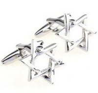 Wholesale Hexagonal type stars shape Cufflinks Mens cufflinks cuff links
