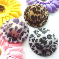 Wholesale 12pcs Hen Party Felt Mini Top Hat Fascinator Base DIY Mini hat cm Leopard printing