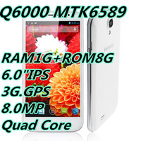 Wholesale 2014 NEW hot sell N3 Smartphone Android MTK6589 Quad Core Inch IPS HD Screen G GPS RAM1GB ROM8GB MP Support many languages