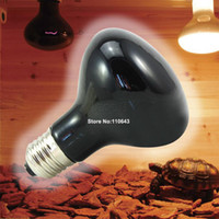 Cheap 3pcs Lot Wholesale High Quality Infrared Basking Light Spot Light Lamp Max Heat Reptile Black Bulb Glob Light TK1195