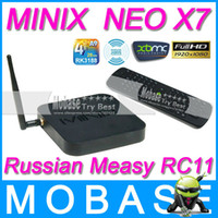 Wholesale Russian RC11 Air Mouse MINIX NEO X7 Android TV Box Quad Core Mini PC GHz G G WiFi HDMI USB RJ45 OTG Optical XBMC Smart TV
