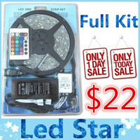 lighting kit - Full kits SMD RGB Led strips lights M leds waterproof keys remote controller power supply with EU AU UK US SW plug