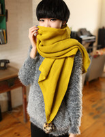 Wholesale over Korean candy solid long diagonal balls wool scarves female leopard scarf shawl warm