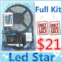 ir led light - 5M LEDS Waterproof Led strips RGB lights SMD LEDS M ir remote controller V A power supply with EU AU UK US SW Plug