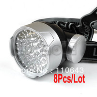 Wholesale 8pcs LEDs Mode LED Headlight Headlamp Head Lamp for Camping Outdoor Lighting