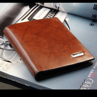 Wholesale 2013 NEW Men Foreign trade leisure cowhide PU leazher Wallet Card Purse Pocket WBG0421