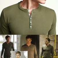 dexter - NWT NEW High Quality Men s Slim Fit Fitted Stretch Dexter Morgan Showtime Kill Rib Heley T Shirt Long Sleeve Tee