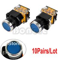Cheap 10Pairs Lot Blue Momentary Push Button Switch Heavy Duty TK0329