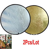 Wholesale 2pcs New Collapsible Light Round Photo Photography Reflector for Studio or Outdoor cm