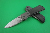 Wholesale Damascus knife Folding blade HRC LY0085 collection knife hunting survival camping microtech Hiking outdoor gear knife knives with gift box