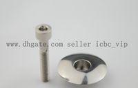 Wholesale 1 quot Titanium Ti CNC Headset Top Cap amp M6 x mm Titanium Bolt Stem cover bicycle parts