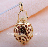 Wholesale J71 Nice fashion Mexico Ball K gold GP Silver Harmony Ball bell Charm Pendant