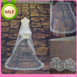 Wholesale Best Price Ivory Or White M Long Wedding Veils Tulle