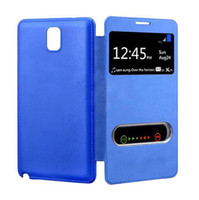 Best S5Q New S View Battery Flip Leather Back Cover Case For Samsung Galaxy Note 3 N9000 AAACNI