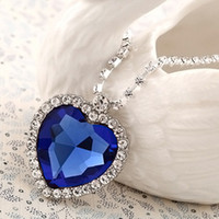 Wholesale With Diamond Necklace Short Necklace Heart Of The Ocean Sweater Girlfriend s Birthday Gift