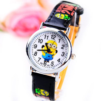 Wholesale The supply of new fashion small yellow cartoon students leather strap watch children watch can be as a gift to the children of the family