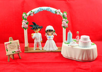 Wholesale 2013 New Anime DRAGON BALL Movie WCF DWC7 Son Goku ChiChi Wedding scene PVC Action Figure