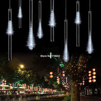 Wholesale 50CM Holiday Light Meteor Shower Rain Tubes LED Light For Christmas Wedding Garden Decorative Lamp V US White TK1326