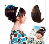 Wholesale Black Brown Blond color stocks The Fashion Woman Hair Bun Extension Hair Bun Ring Donut Roller Hairpieces Chignon