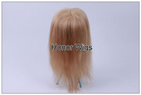 Wholesale New Arrival Womens Hair Pieces Soft Silk Straight Chinese Hair Mix Color Human Hair Wigs Fashion Accessories g HP16 M SST