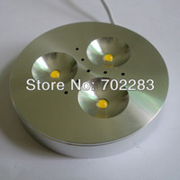 Wholesale 10pcs V DC W Dimmable LED Under Cabinet Light Puck Light Warm White Natural White Cool White for Kitchen lighting