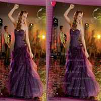 Reference Images Strapless Tulle 2014 Center Noivas FANCY TEEN Megan Sexy A Line Strapless Sweetheart Lace up Tulle Prom Dresses with Hand Made Flowers and Sequins Dhyz 01