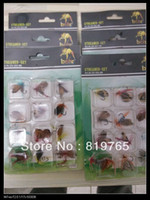 Wholesale Fly fishing hook sets Butterfly Style Single Hook fly fish lure Fly Fishing Trout Salmon Flies Fly Tackle Set