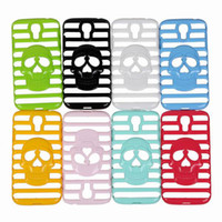 Wholesale For Samsung S4 i9500 Skull Hollow Out Phone Case Cover Skin Plastic Shell Protector Cell Phone Case ISS
