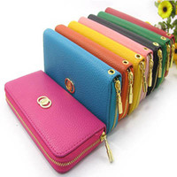 Wholesale 9 Colors Women s Multi fonction Wallet Purse Clutch Long Handbag Phone Case for Samsung Galaxy S2 S3 iphone S Case