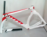 Wholesale track frame tt frame made in carbon t1000 easy cycling red white color bike frame
