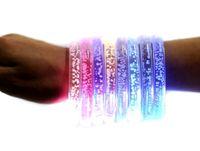 Wholesale Best price LED bracelet light up flashing bracelet Blinking Crystal bracelet for Christmas