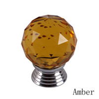 Cheap 2013 New 30mm Diamond Shape Clear Crystal Sparkle Glass Cabinet Handles Drawer Dresser Cupboard Door Knobs Pulls 05337-AB