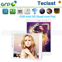 Cheap Teclast G18 Mini MT8389 Quad Core 3G Phone Call Tablet 7.9 inch IPS Android 1GB Ram 16GB Rom Dual Camera 2.0MP+5.0MP