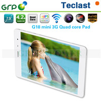 Teclast 7.9 inch Quad Core Original Teclast G18 Andriod WCDMA Mini 3G Tablet Phone MT8389 Quad Core 1.2GHz CPU 1G Ram 16G with 7.9 inch IPS screen 1024*768