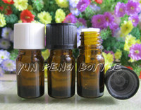 Wholesale DHL ml amber glass essential oil bottle with childproof cap cosmetic packaging essential oil container