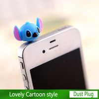 Wholesale Cartoon Dust Plug mm Cell Phone Plug for iPhone S S plug phone charm for Samsung free HK Post