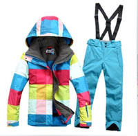 Wholesale warm waterproof gsou snow colorful ski suit women snowsuit