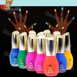 Wholesale New Colors ml Fluorescent Neon Luminous Nail Polish Glow in Dark Nail Varnish Nail Enamel