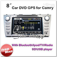 Best Wholesale - 8.0'' Car DVD with GPS,IPOD,TV,Bluetooth,Radio,USB,SD player for Camry FCC CE ROHS certified+4G car