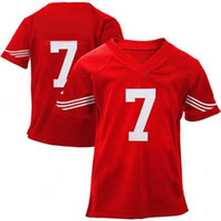Wholesale Kaepernick ers Toddler Game Jersey red Baby Football Jerseys Stitched New Fashion Infant school uniform sports apparel high quality