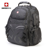 Wholesale Black SWISSWIN army knife polyester backpack shoulder backpack computer backpack shoulders backpack students backpack BDD SW09810