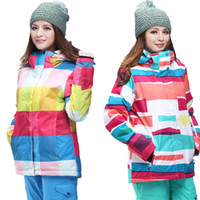 Wholesale winter colorful skiing jackets snow jacket gsou snow brand