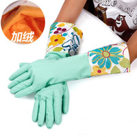 Silicone Household Gloves - Thick Warm Household Latex Gloves Multi Color Waterproof Silicone Washing Gloves Dishes Clothes Clearing Gloves Promotion RY0101